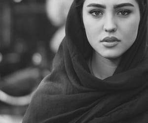 black and white, hijab, and georgeous image