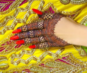 hand art, henna, and mehndi image