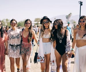 beauty, friends, and coachella image