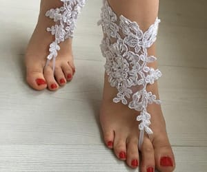 etsy, beach wedding, and barefoot sandals image