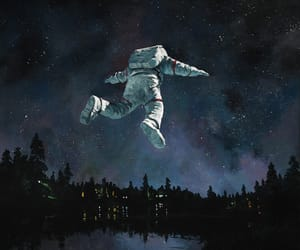 art and astronaut image