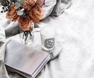 book, glasses, and roses image