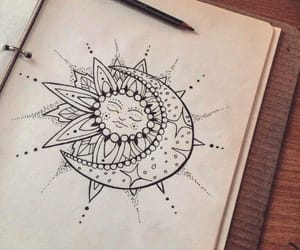 drawing, art, and boho image