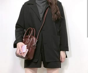 asia, bag, and black image