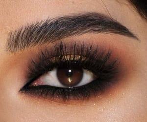 brown eyes, make up, and shadow image