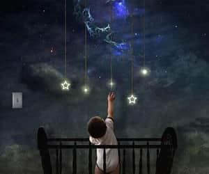 baby, Dream, and stars image