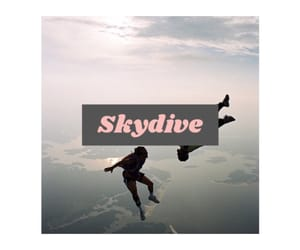 fly, free, and skydiving image