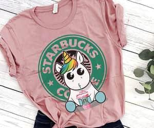 unicorn, flowers, and starbucks image