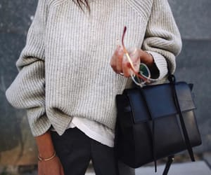 bag, style, and sweater image