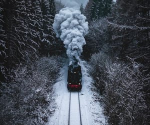 hogwarts, snow, and travel image