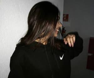 dark, girl, and happy image