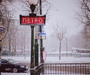 metro, snow, and vintage image