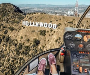 hollywood, girl, and travel image