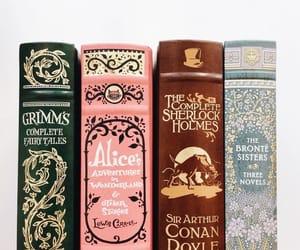 book, alice in wonderland, and sherlock holmes image