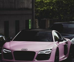 car, pink, and audi image