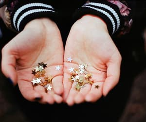 stars, hands, and vintage image