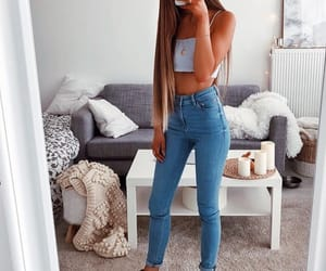 fashion, crop top, and cute image