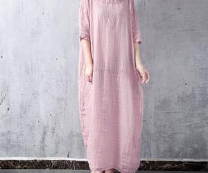 etsy, large size dress, and linen dress image