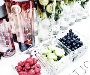 berries, blueberry, and drink image