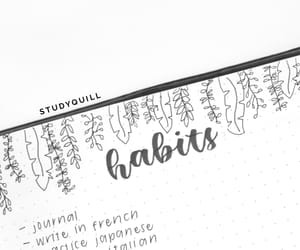 productivity, study, and bullet journal image