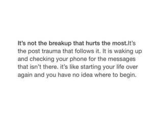 breakup, hurt, and quote image