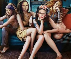 girl, art, and Frida image