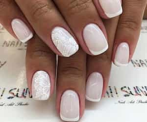 french manicure and nails image