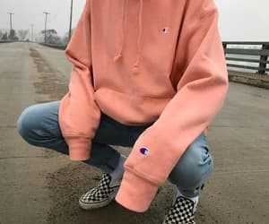 hoodie, champion, and style image