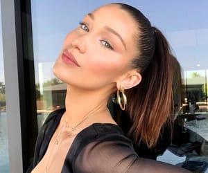 bella, hadid, and brunette image
