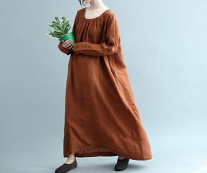 dresses, long sleeve, and cotton dress image