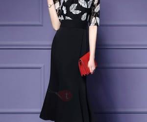 dress, dresses, and short sleeve image