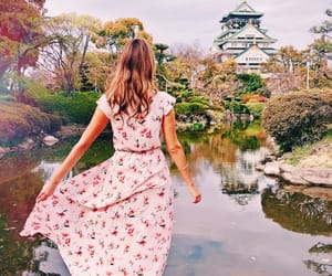 asia, castle, and dress image