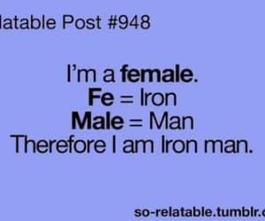 female, iron man, and funny image
