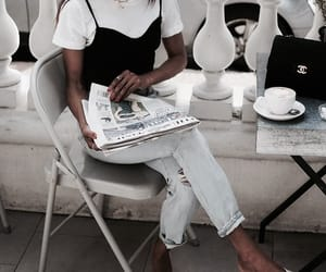 chic, chanel, and coffee image