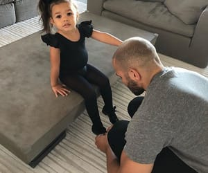 dad, baby, and family image
