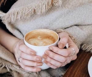 autumn, blanket, and coffee image