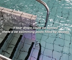 aesthetic, Lyrics, and pool image