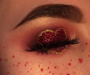 makeup, red, and heart image