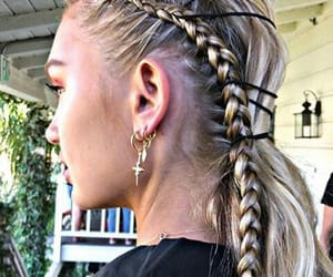 braid, model, and coachella image