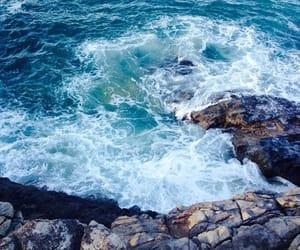 nature, rocks, and sea waves image