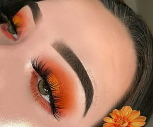 makeup, beauty, and orange image
