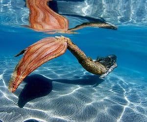 mermaid, ocean, and water image