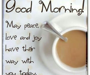 coffee, good morning, and peace image