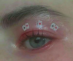 eye makeup, tumblr makeup, and creative makeup image