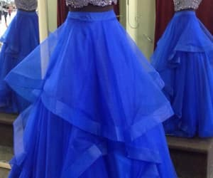 beaded prom dress, royal blue prom dress, and long sexy party dress image