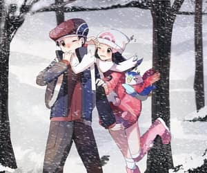 couple, dawn, and pokemon image