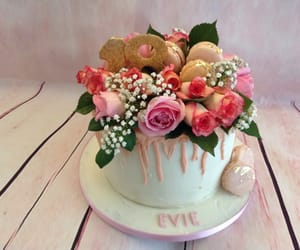 buttercream, fresh flowers, and derbyshire image