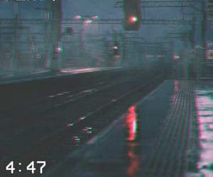 grunge, late night, and rain image