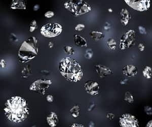 beautiful, dark, and diamond image