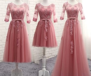 beautiful dress, lace, and see-through image